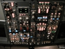 Boeing 737-800 overhead panel