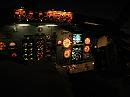 Boeing 737 night cockpit