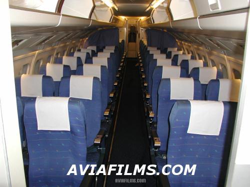 Fokker 50 passenger cabin