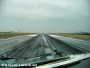 Aircraft on runway cockpit view