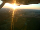 Cessna 152 wing in flight
