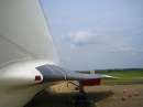 Concorde wing front view