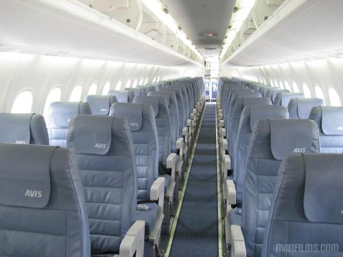 Dash 8-Q400 passenger cabin