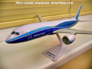 Dreamliner plastic airplane model