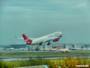Gatwick Airport Virgin Airlines A330 take-off