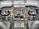 Old aircraft cockpit
