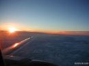 Sunrise on a plane